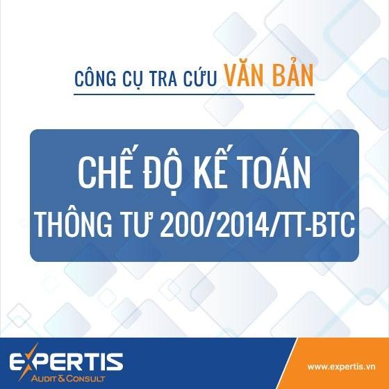 Chế độ kế toán doanh nghiệp Thông tư 200/2014/TT-BTC