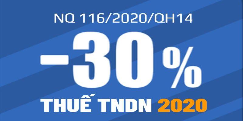Giảm 30% thuế TNDN năm 2020